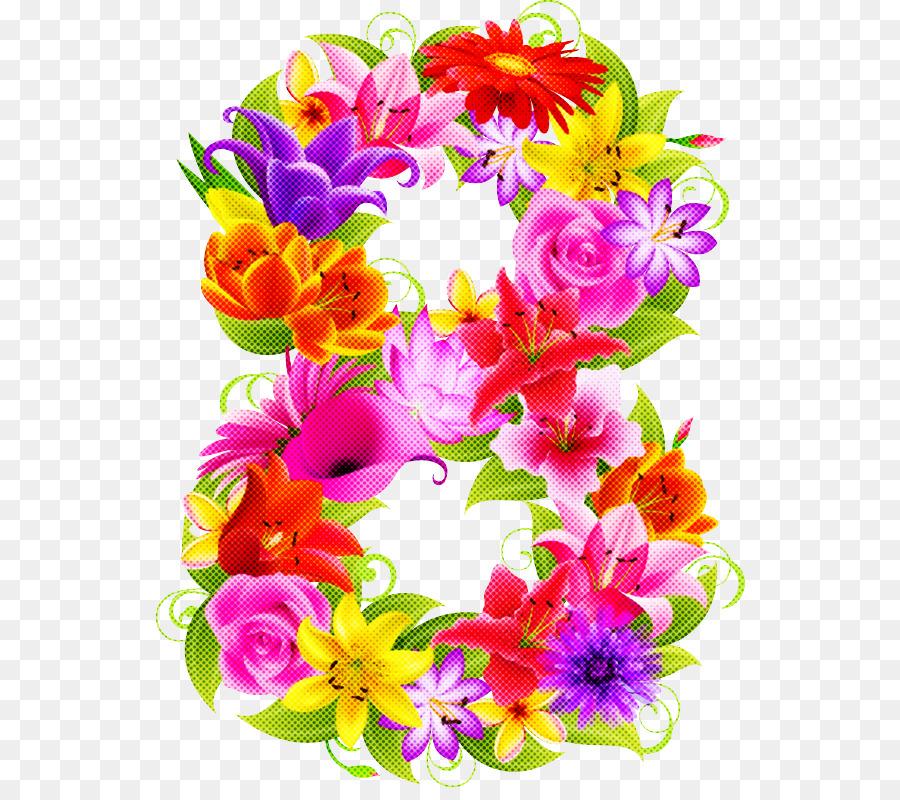 Descarga gratuita de Cortar, Diseño Floral, 8 De Marzo Imágen de Png