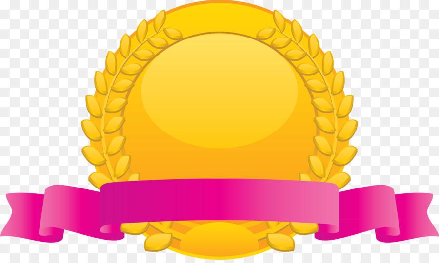 Descarga gratuita de Insignia, Medalla, Amarillo Imágen de Png