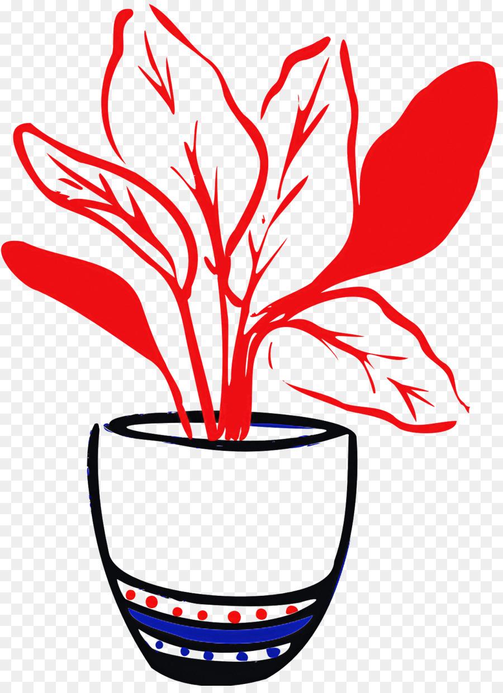 Descarga gratuita de Flor, Arte De Línea, Maceta Imágen de Png
