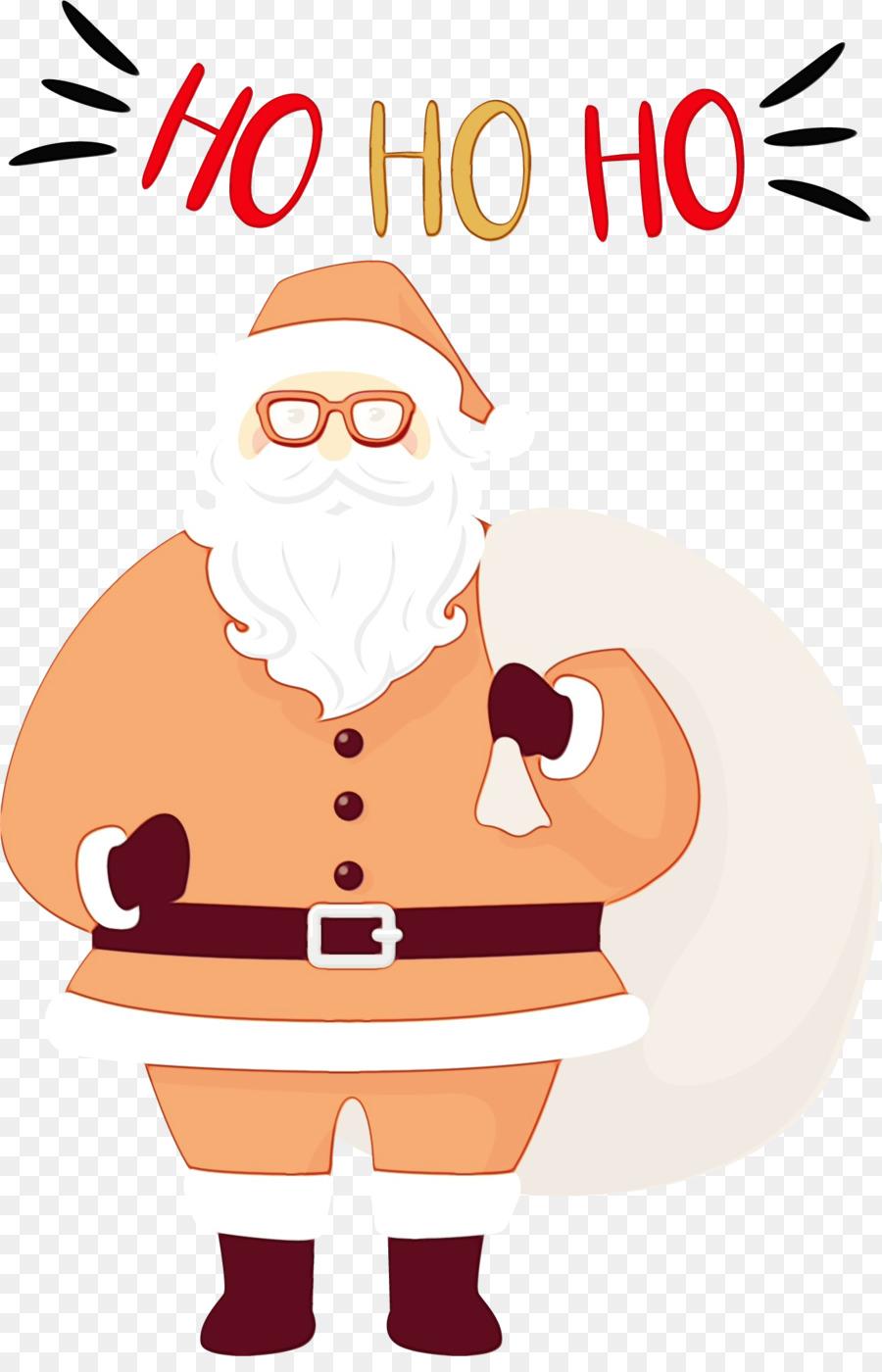 Descarga gratuita de Santa Claus, Christmas Day, Línea Imágen de Png